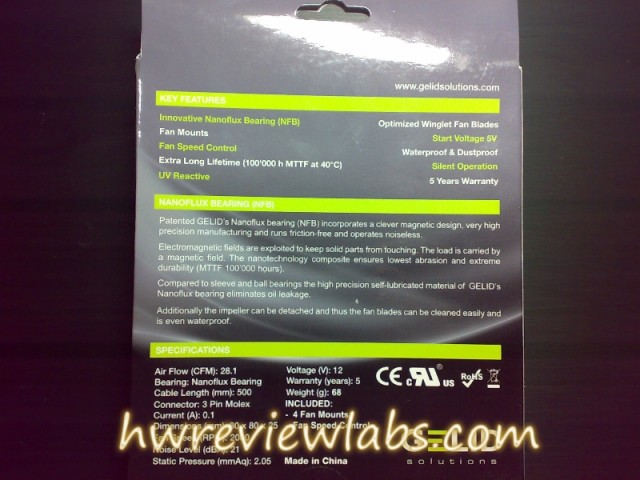 Gelid Solutions Wing fans review - Blue UV Wing 8cm packaging